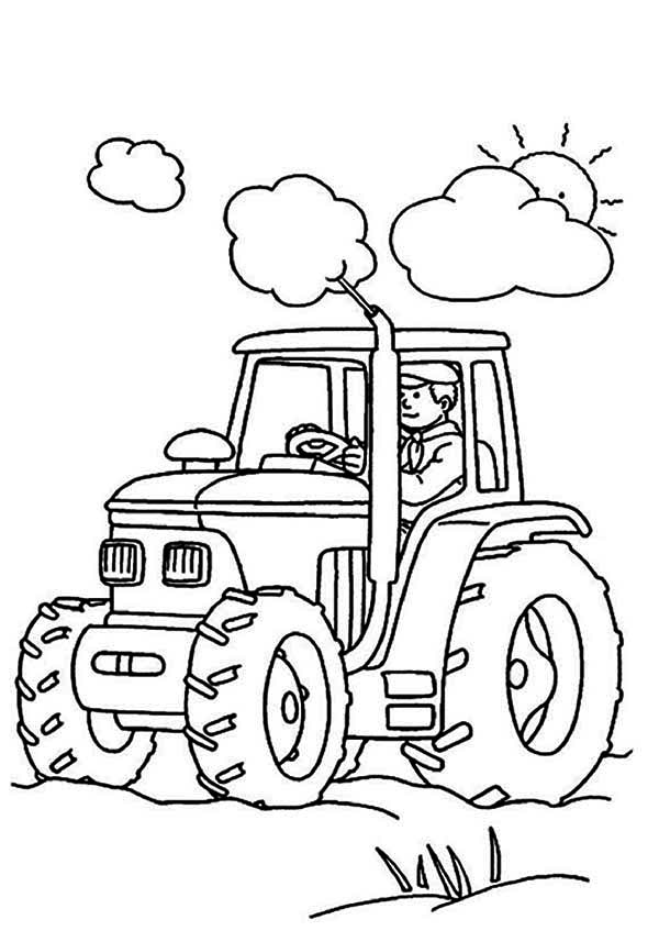 Farmer Is Working Tractor Coloring Page Download Print Online Coloring Pages For Free Color Nimbus