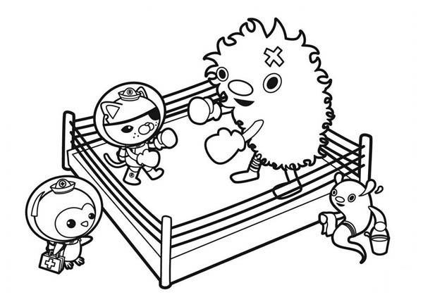 Kwazii Practice Boxing In The Octonauts Coloring Page