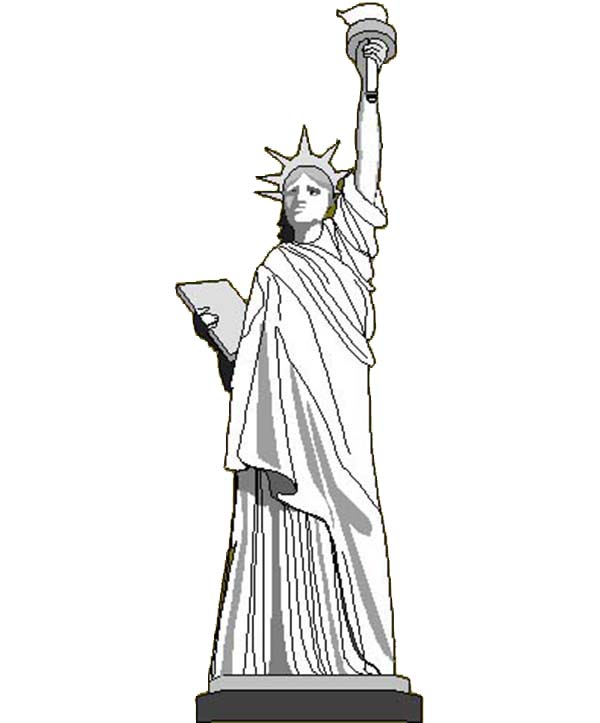 Liberty Enlightening The World In Statue Of Liberty Coloring Page Download Print Online Coloring Pages For Free Color Nimbus