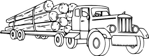 Logging Semi Truck Coloring Page Download Print Online Coloring Pages For Free Color Nimbus