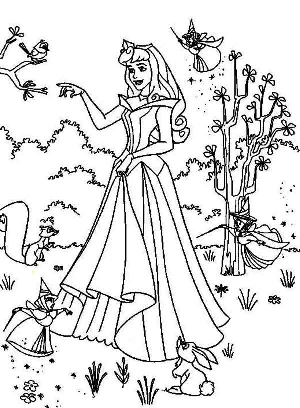 Princess Aurora Poster Coloring Page Download Amp Print