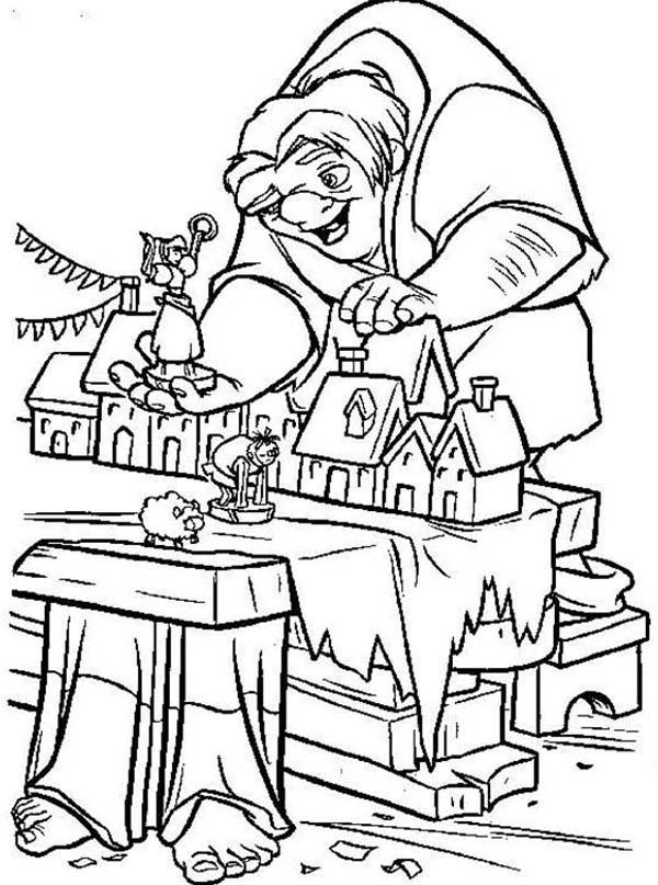 Quasimodo Playing Doll House In The Hunchback Of Notre