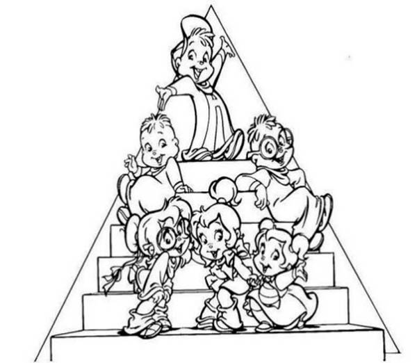 The Chipettes And The Chipmunks Picture Coloring Page