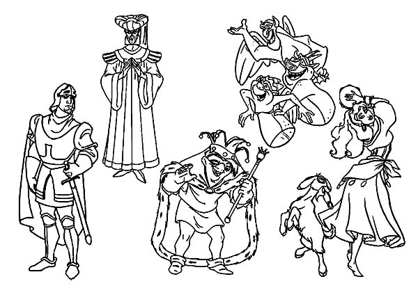 The Hunchback Of Notre Dame Disney Character Coloring Page