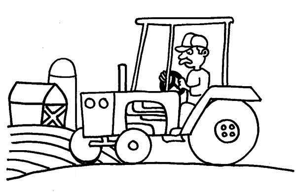 Tractor Farm And Barn Coloring Page Download Print Online Coloring Pages For Free Color Nimbus