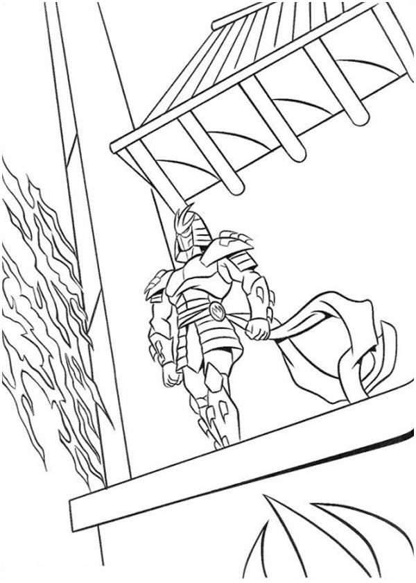 Ninja Standing On Rooftop Coloring Page Download Amp Print