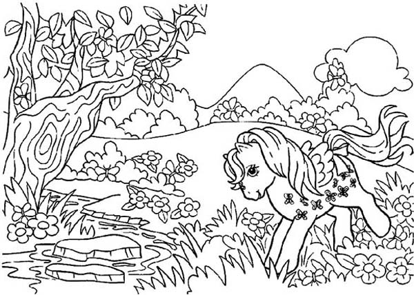 Rarity Playing In The Forest In My Little Pony Coloring