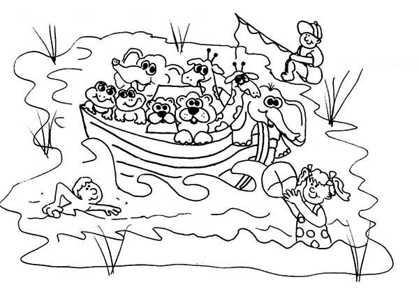 Myers Lake For Summer Camp Location Coloring Page
