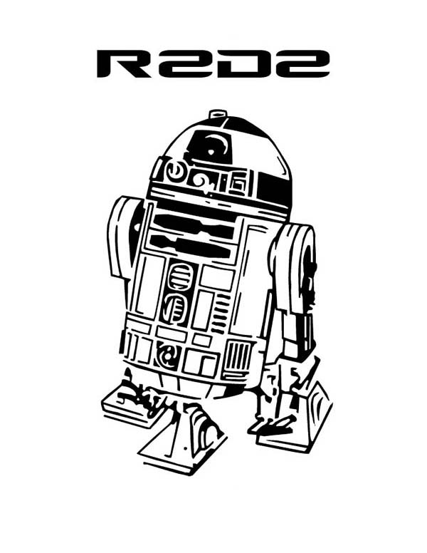 r2d2 in star wars coloring page  download & print online
