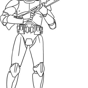 Phase 2 Clone Trooper Coloring Pages Sketch Coloring Page