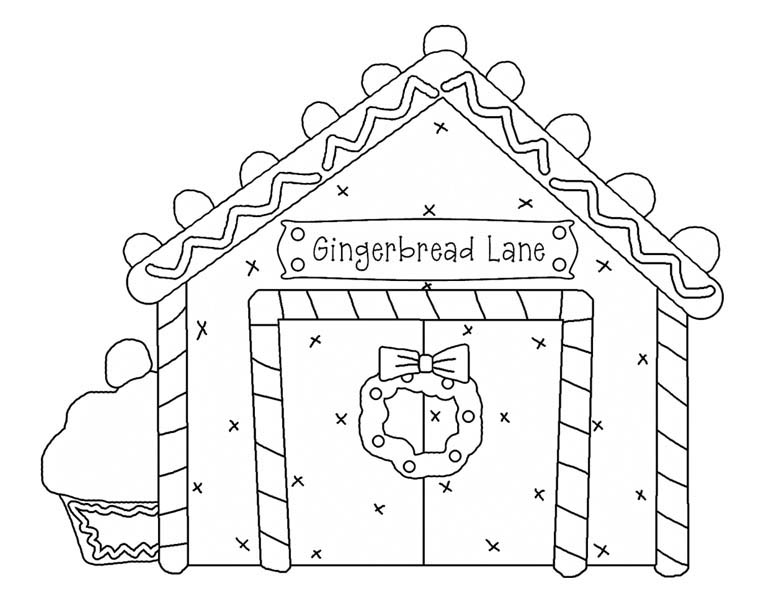 Christmas Gingerbread House And Lovely Cupcake Coloring