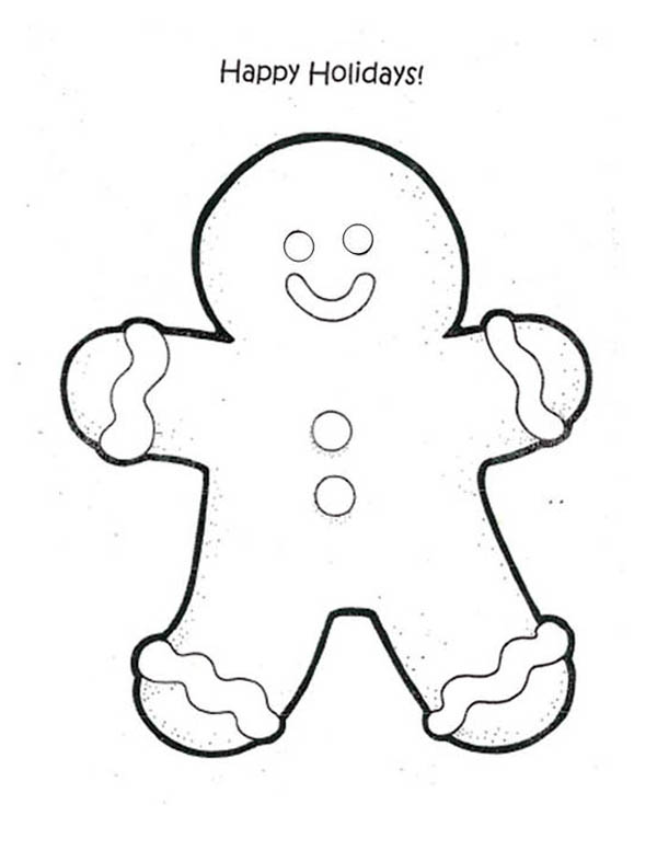 Happy Holidays Say Mr Gingerbread Men On Christmas