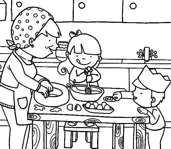 cooking coloring pages # 8