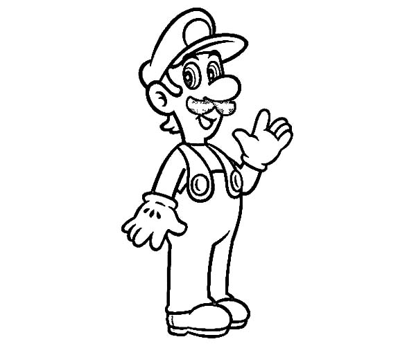 Baby Luigi Learn To Jump Coloring Pages Download Amp Print
