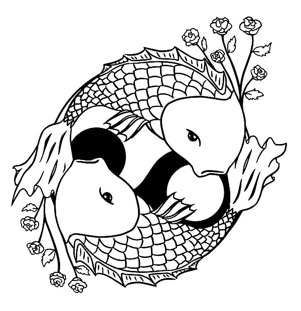 20 Fish Ying And Yang Coloring Page Ideas And Designs