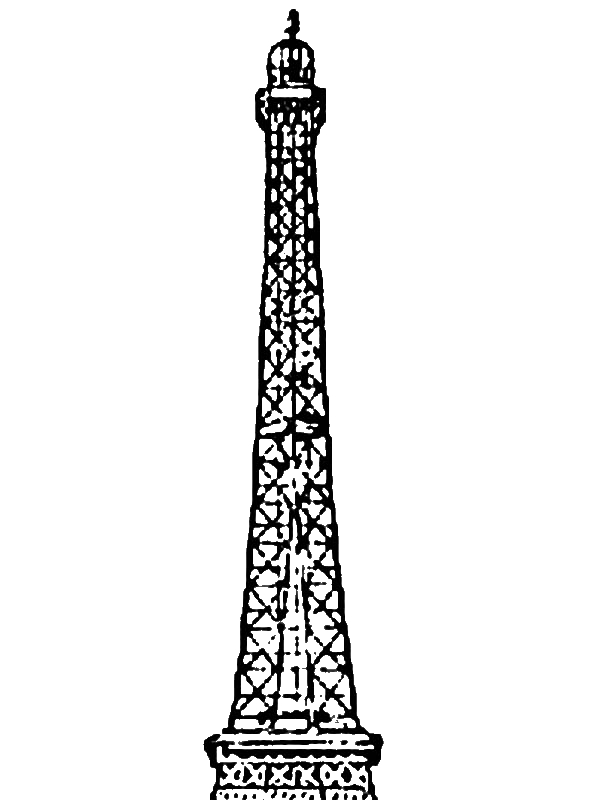 Amazing Eiffel Tower Coloring Page by years old