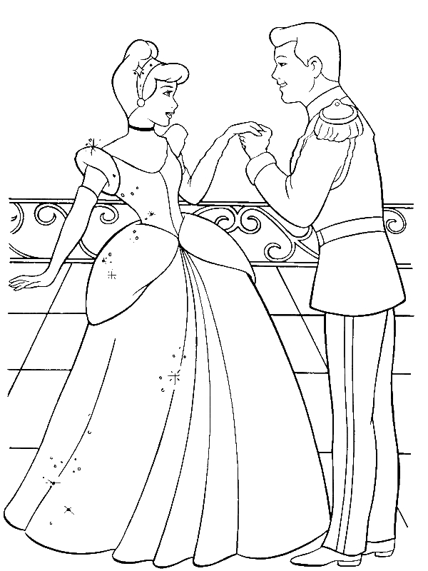 Cinderella And Prince Charming Are In Love In Cinderella