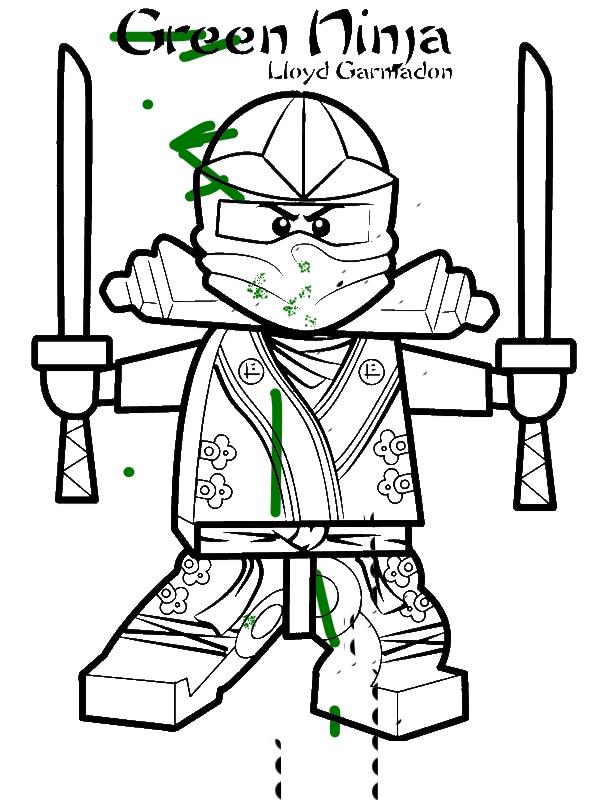 Lloyd Garmadon Ninjago Green Ninja Coloring Page
