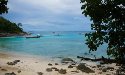 The floating jetty at Racha Yai