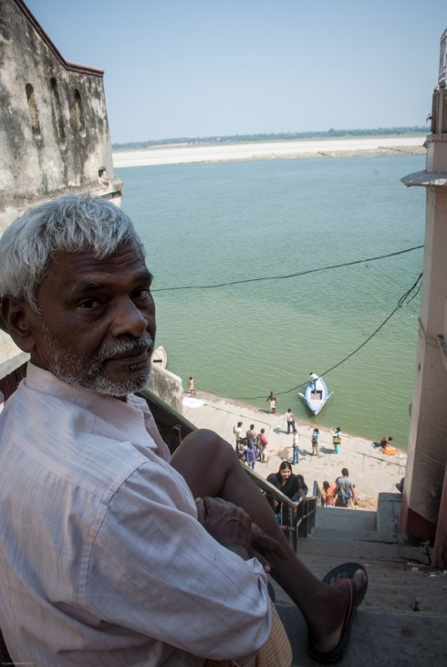 By the river Ganges