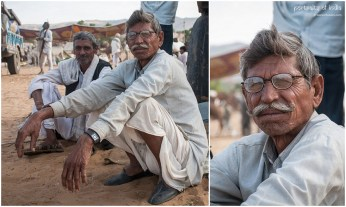Villagers sit & chat at the fair grounds in Pushkar, Rajasthan