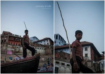 A majhi (boatman) on the ghats of Varanasi