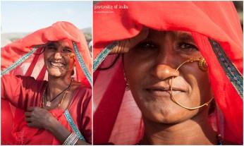 A lovely cheerful woman at Pushkar, Rajasthan
