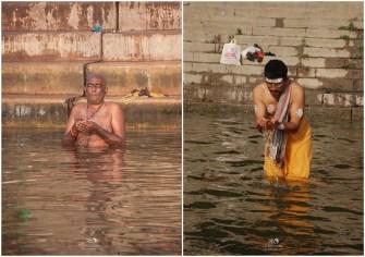 Morning prayers at the ghats