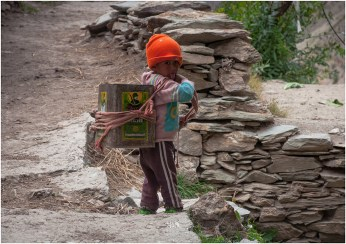 Helping with the daily chores in the mountains