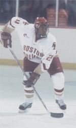 Brett Peterson in his smooth-skating Boston College days.