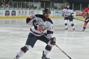 Jeremiah Addison with OHL Saginaw. (Photo: Saginaw Spirit)