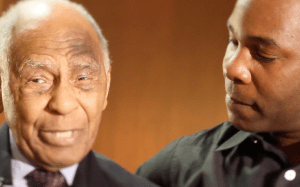 Kwame Damon Mason interviewed hockey great Herb Carnegie, left, before he passed away in March 2012.