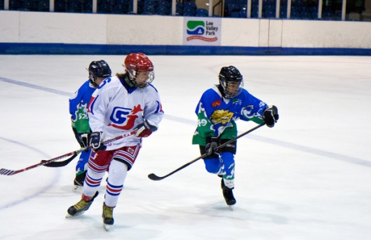 Lee Valley youngsters against a team from Slough.