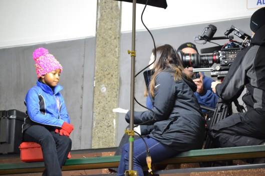 Fort Dupont skater gives an up-close and personal interview to NBC.
