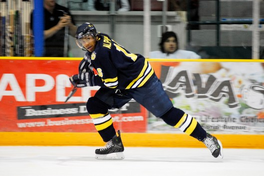 Before he became an NHL linesman, Shandor Alphonso was a rugged winger for Canada's Lakehead University (Photo/Lakehead University)