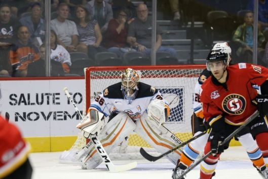 San Diego Gulls goalie John Gibson is one of Maharaj's pupils.