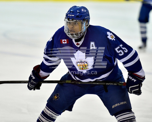 Akil Thomas of the Toronto Marlies hopes to make his way up the hockey ladder and be drafted by an Ontario Hockey League team. (Photo/Aaron Bell/OHL Images).