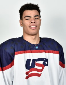 J.D. Greenway wants to play in the NHL - after college.