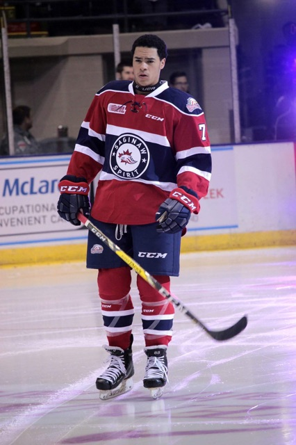Forward Kyle Bollers begins the 2016-17 season with the OHL's Saginaw Spirit.