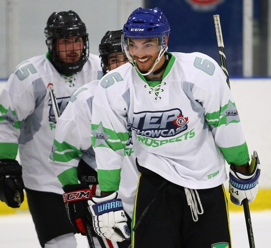 After quitting the game three years ago, hockey is fun again for C.J. Bollers. He played in a showcase All-Star game in Toronto in June (Photo/AlexD'Addese/TEP Showcase)