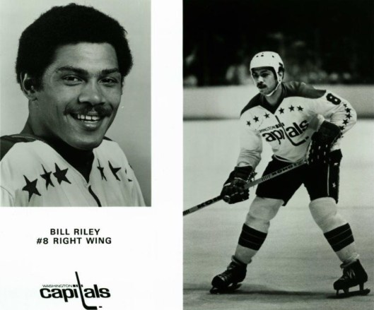 Bill Riley, the NHL's third black player, donned the Number 8 for the Washington Capitals long before Alex Ovechkin made it famous.(Photos/Washington Capitals).