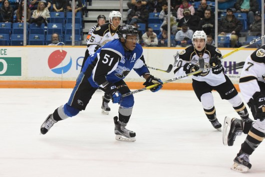 ef4f762f476 Former Saint John Sea Dogs left wing Bokondji Imama hopes to make the Los  Angeles Kings after signing a three-year deal with the team (Photo David ...