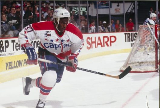 Washington Capitals forward Reggie Savage scored his first NHL goal on a  penalty shot in 1992 (Photo Washington Capitals). dff48b29883e