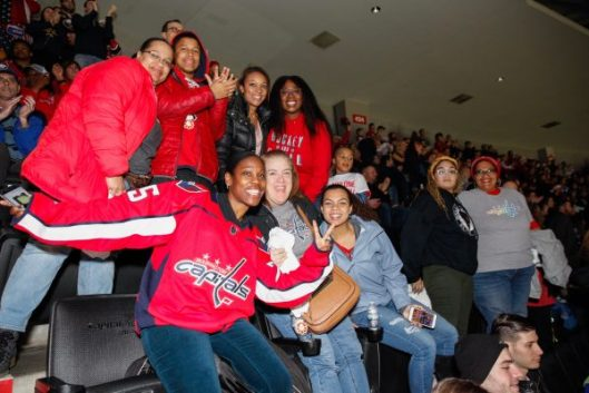 Members of the Black Girl Hockey Club enjoy the game between the Washington  Capitals and Buffalo Sabres in D.C. Saturday night (Photo Washington  Capitals). 03cbd75ed86b