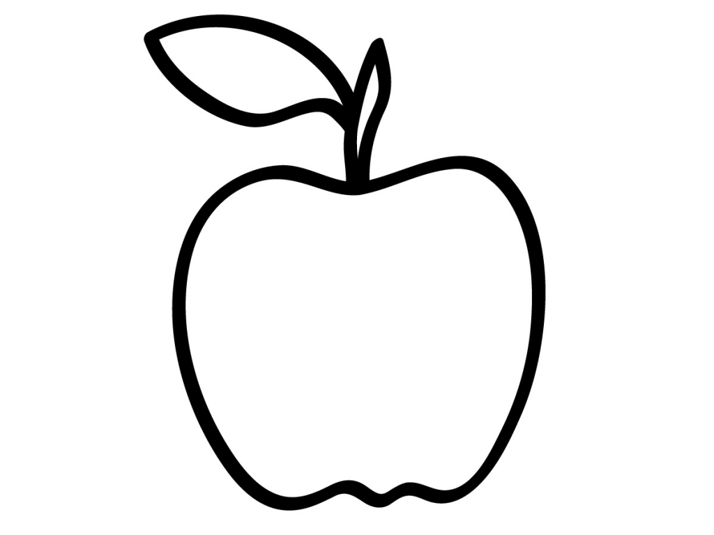 Apples Preschool Coloring Pages