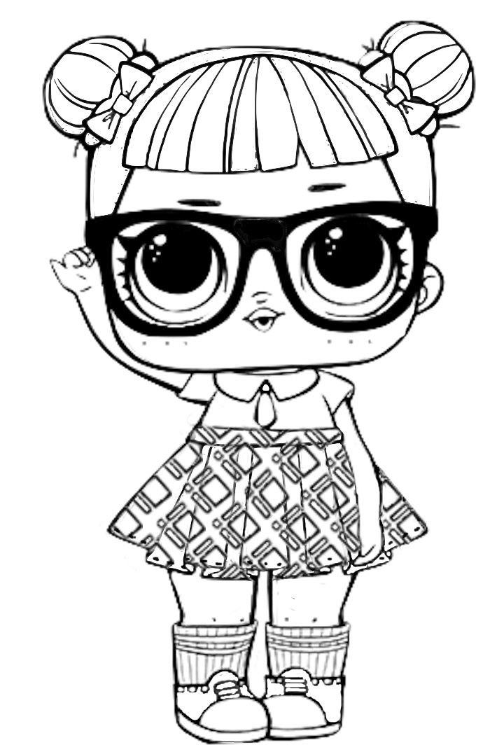 LOL Surprise free coloring image pages for kids