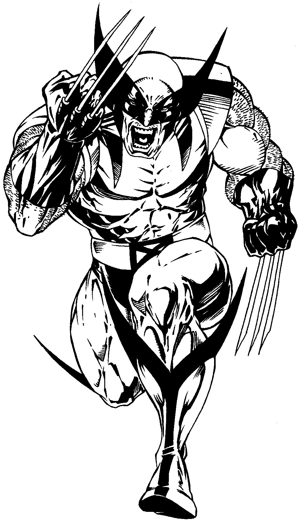 Wolverine Logan free coloring pages to print