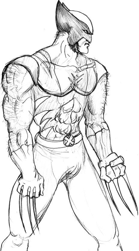 wolverine logan free coloring pages to print – colorpages