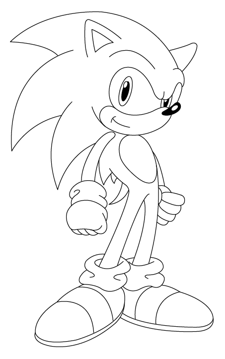 SONIC the Hedgehog free printable coloring pages