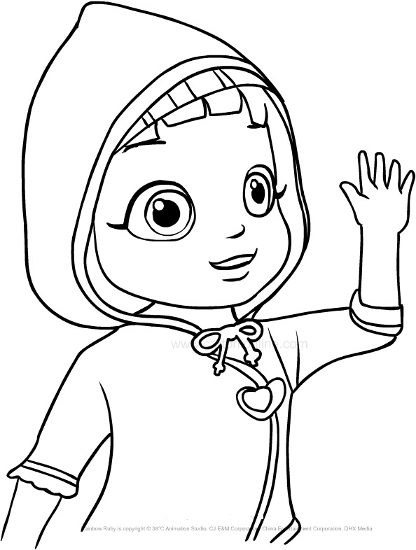 Rainbow Ruby free printable coloring pages